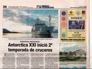 158)La Prensa Austral (Chile) mart.30.11.04