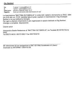 263)Rai 2. Mattina in Famiglia.3.2.05