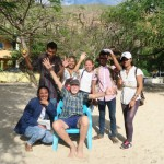 140) Areia Branca. University students interview foreigners to understand what they think of Timor-Leste