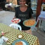 26) Vila, bungalow at Manukoko Rek, fauded by Italian fathers, restaurant specializes in pizza e spaghetti